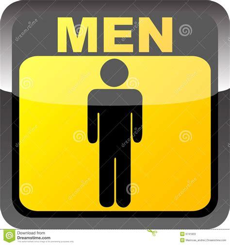 men toilet label stock vector image of silhouette