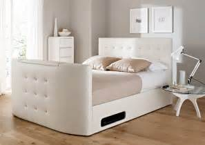 atlantis leather ottoman tv bed white ottoman beds storage beds beds