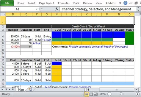 Channel Marketing Plan Maker Template For Excel Comprehensive Marketing Strategy Template