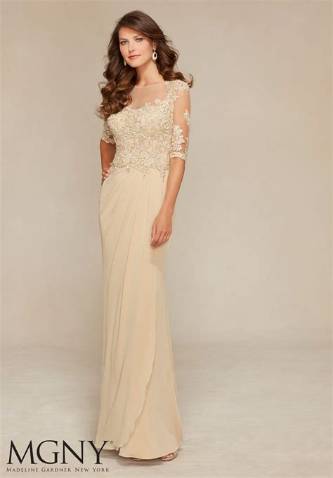 evening gown design jersey with venice lace appliqu 233 s style 71319 morilee