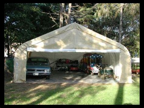 Canvas Garages by 22 X24 X12 Two Car Garage House Style Canvas Shelter