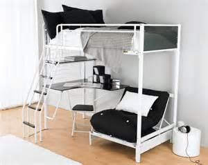 bedroom size bunk bed with desk underneath patio