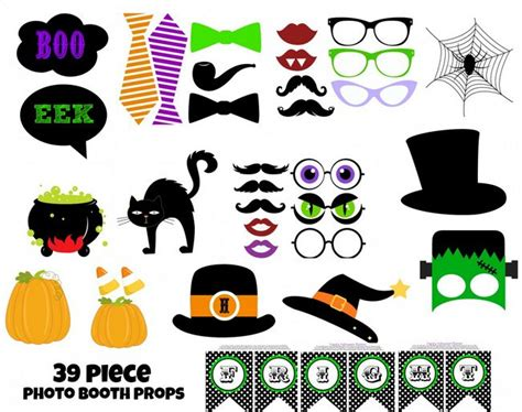 printable photo booth props for halloween printable halloween photo booth props 1 99 groopdealz com