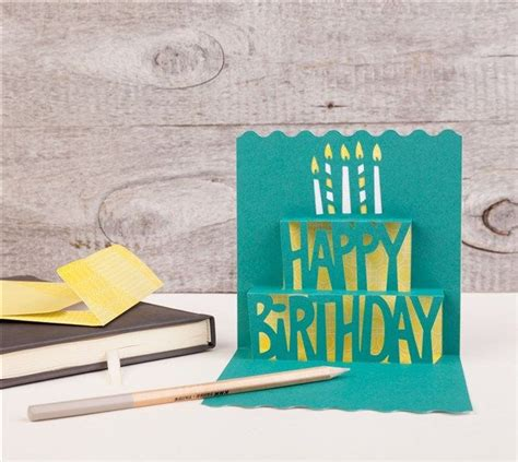 make it now creative 0753545047 simple pop up cards cricut cartridge happy birthday pop up card make it now with the cricut