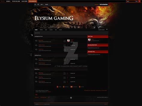 templates for xenforo ipb theme elysum gaming by the danzor on deviantart