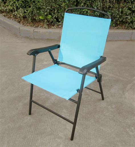 Shop Hy Vee Blue Sling Patio Chair