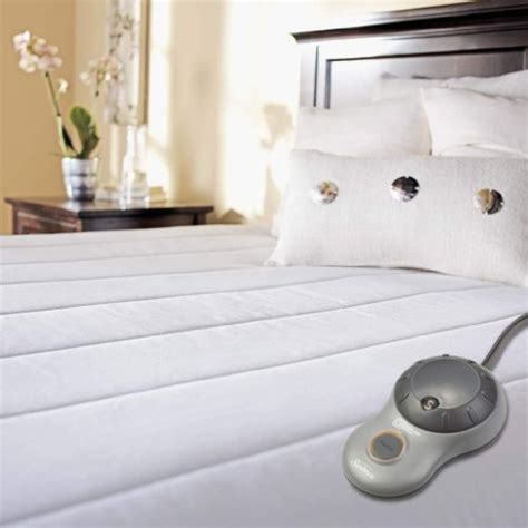 Sunbeam Quilted Polyester Heated Mattress Pad by Sunbeam Quilted Polyester Heated Mattress Pad Tech Gifts