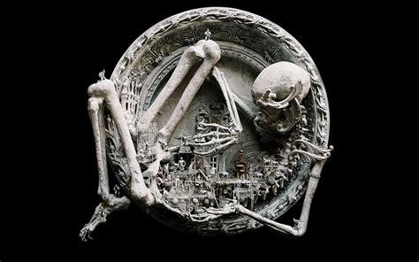 craft skull wallpaper quot antics and mechanical frolics quot by kris kuksi wallpaper