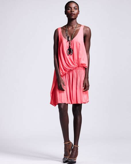 draped waist dress lanvin draped drop waist dress