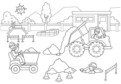 Construction Site Coloring Pages construction site coloring pages for 2nd b day
