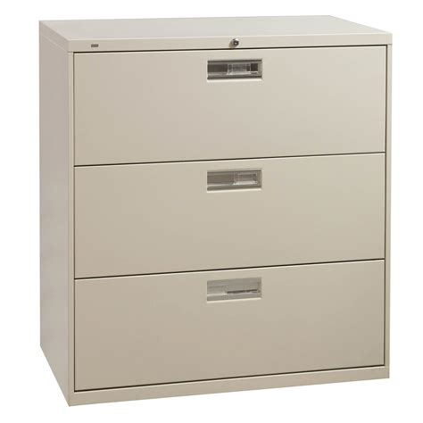 Hon 3 Drawer Lateral File by Hon 600 Series 3 Drawer 36 Inch Lateral File Putty