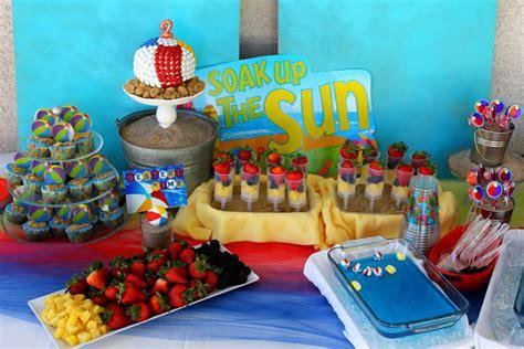 themes in the house at sugar beach kara s party ideas beach ball birthday party supplies