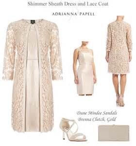 adrianna papell occasion dress matching lace coat