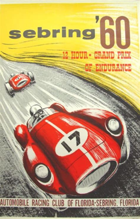 Plakat Club Motor by Vintage Posters Shell Oils And Racing Cars Classic