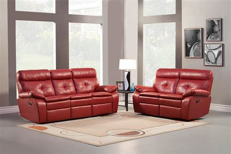 red reclining sectional homelegance wallace reclining sofa set red bonded