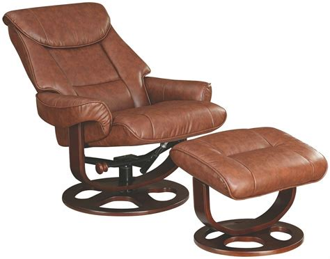 Glider Recliner With Ottoman 600087 Brown Glider Recliner With Ottoman From Coaster Coleman Furniture