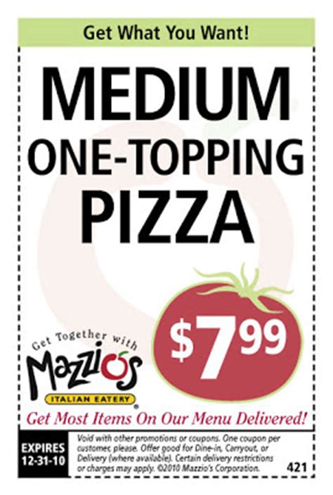 mazzios lunch buffet coupons mazzios coupons