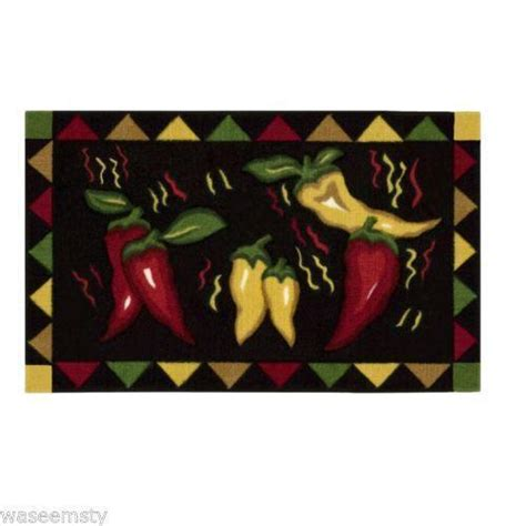 Chili Pepper Kitchen Rugs Chili Pepper Rug Ebay