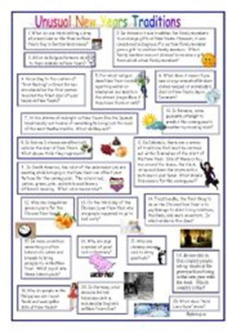 new year traditions worksheet worksheets conversation resources worksheets page 9