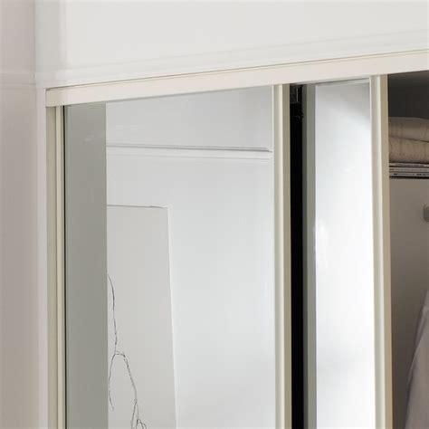 B Q Mirrored Wardrobes by Classic Mirrored White Mirror Effect Sliding Wardrobe Door