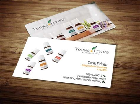 Young Living Business Cards Tank Prints Living Business Card Template