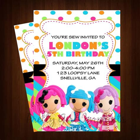 lalaloopsy printable birthday invitations lalaloopsy invitation printable lalaloopsy birthday