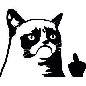 passion stickers autocollant fun grumpy cat vous fait un