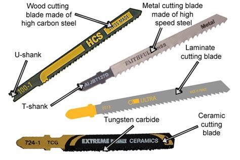 types of blades what are the different types of jigsaw blade