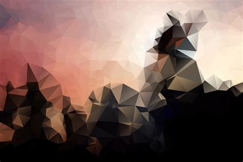 Valley Interiors Low Poly Background Iii