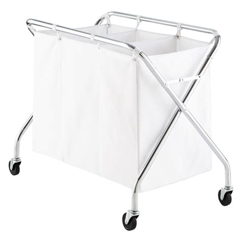 laundry basket with 3 sections laundry sorter heavy duty 3 bin laundry sorter with