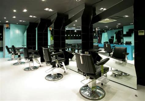 hair salon pics with white floor studio design