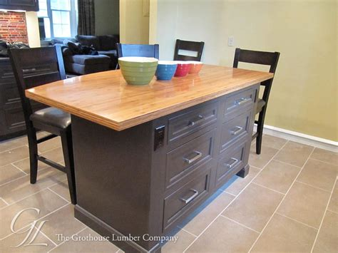 bamboo kitchen island grothouse wood countertop butcher block countertop images