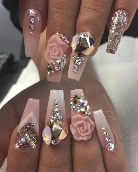 3d Nails by Best 25 Bling Nails Ideas On Acrylic Nails