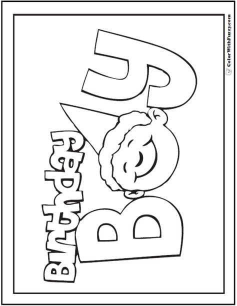 birthday coloring page for boy 55 birthday coloring pages customizable pdf