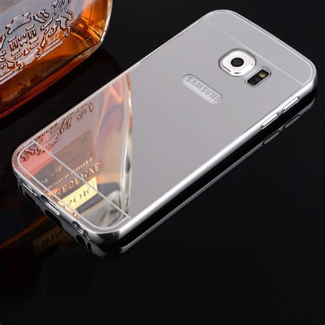 Samsung Galaxy S7 Edge Mirror Alumunium Bumper Casing Back for samsung galaxy s7 s7 edge luxury aluminum phone
