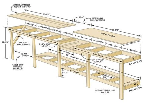 garage bench plans this simple wood work bench is perfect for a garage or