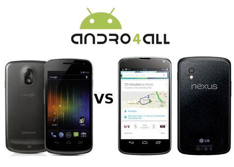 Hp Samsung Nexus 4 samsung galaxy nexus vs nexus 4 comparativa en v 237 deo