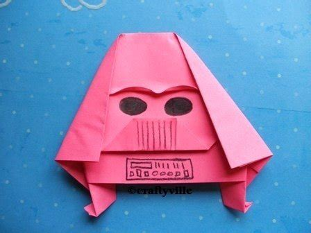 origami darth vader pink thing of the day origami darth vader the worleygig