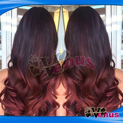 red and black l shade black and red hair ombre hairstyle of nowdays