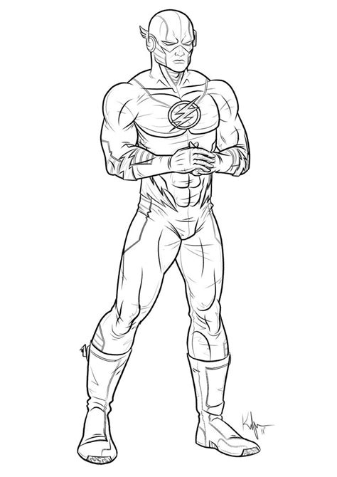 download superhero flash coloring pages superhero