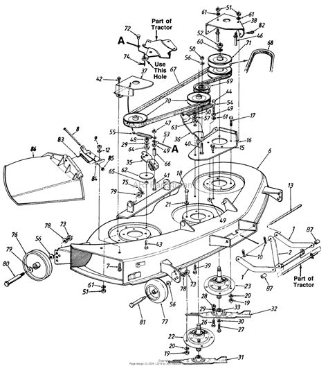 mtd mower deck diagram mtd mtd gt 1846 mdl 141 848h118 parts diagram for deck