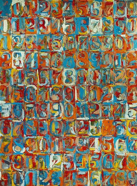 johns colors numbers in color by jasper johns other artists