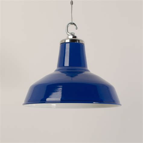 Blue Pendant Lights Enamelled Funk Pendant Cobalt Blue Trainspotters Vintage Industrial Lighting