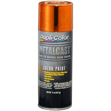duplicolor orange anodized metalcast aerosol spray paint