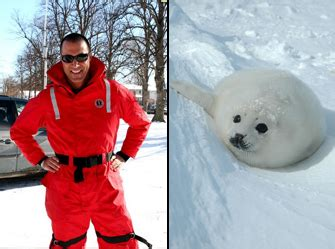 Nigel Barkers Saving Baby Seals While Waiting For His Own by Nigel Barker Is Saving Baby Seals Wearing A Snowsuit