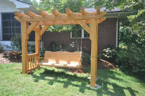 swing arbor timber frame arbor swing by cabin creek timber frames yelp