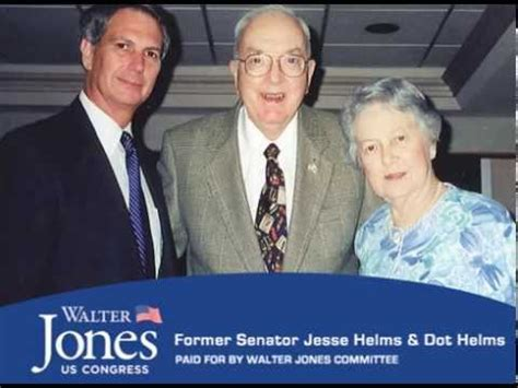 Dot Walter the late senator helms dot endorses walter jones