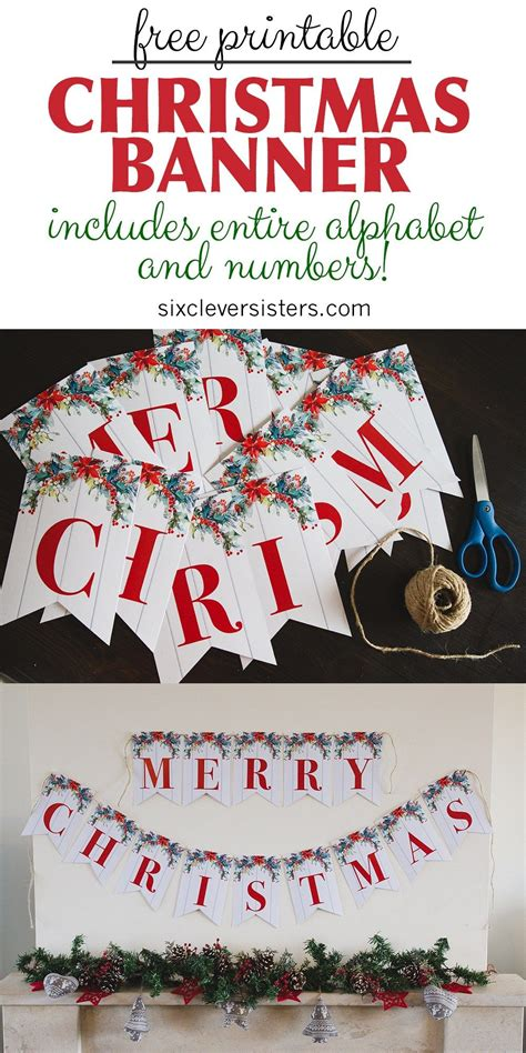 printable christmas signs  beautifully rustic  evergreens  pin merry
