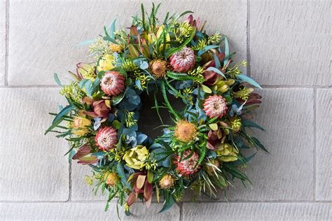 artificial australian native christmas wreath projects archive page 2 of 7 flowers at rookwood