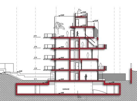 residential building section steffen ahl dipl ing arch msc riba works and projects
